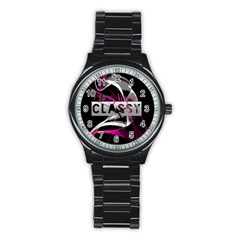 Classy Chics Vape Pink Smoke  Sport Metal Watch (black)