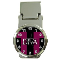 Pink Diva  Money Clip With Watch by OCDesignss