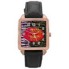 Abstract Lips  Rose Gold Leather Watch  by OCDesignss