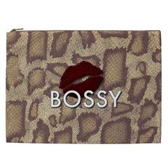 Bossy Snake Texture  Cosmetic Bag (xxl) by OCDesignss