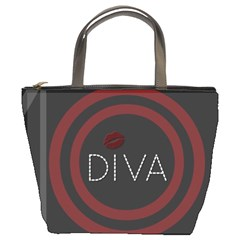 Diva Lips Pattern  Bucket Handbag
