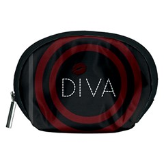 Diva Lips Pattern  Accessory Pouch (medium) by OCDesignss