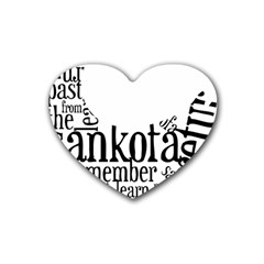 Sankofashirt Drink Coasters 4 Pack (heart)