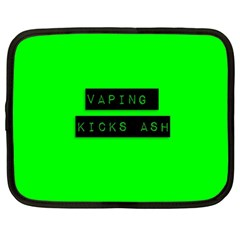 Vaping Kicks Ash Florescent  Netbook Sleeve (large) by OCDesignss
