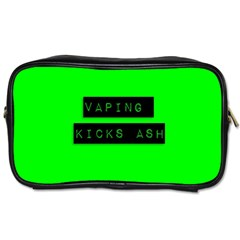 Vaping Kicks Ash Florescent  Travel Toiletry Bag (two Sides) by OCDesignss
