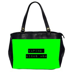 Vaping Kicks Ash Florescent  Oversize Office Handbag (two Sides) by OCDesignss