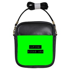 Vaping Kicks Ash Florescent  Girl s Sling Bag by OCDesignss