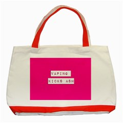 Vaping Kicks Ash Pink  Classic Tote Bag (red) by OCDesignss