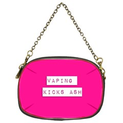 Vaping Kicks Ash Pink  Chain Purse (one Side) by OCDesignss
