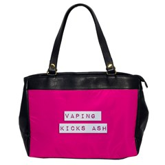 Vaping Kicks Ash Pink  Oversize Office Handbag (one Side) by OCDesignss