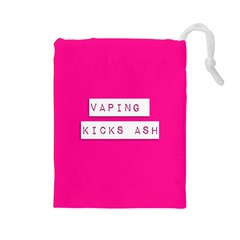Vaping Kicks Ash Pink  Drawstring Pouch (large) by OCDesignss