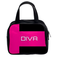 Diva Hot Pink Classic Handbag (two Sides) by OCDesignss