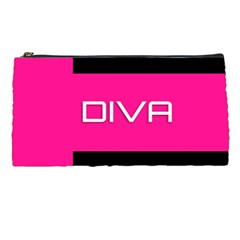 Diva Hot Pink Pencil Case by OCDesignss