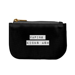 Vaping Kicks Ash Blk&wht  Coin Change Purse by OCDesignss