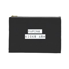 Vaping Kicks Ash Blk&wht  Cosmetic Bag (large) by OCDesignss