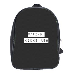 Vaping Kicks Ash Blk&wht  School Bag (large) by OCDesignss