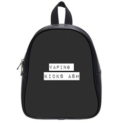 Vaping Kicks Ash Blk&wht  School Bag (small) by OCDesignss
