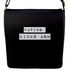 Vaping Kicks Ash Blk&wht  Flap Closure Messenger Bag (small) by OCDesignss