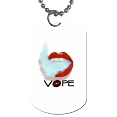 Vape Mouth Smoke  Dog Tag (one Sided) by OCDesignss