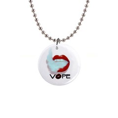 Vape Mouth Smoke  Button Necklace by OCDesignss