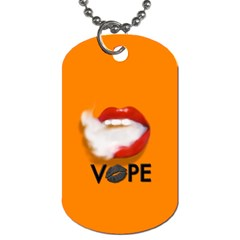Lips Vape Smoke  Dog Tag (one Sided) by OCDesignss