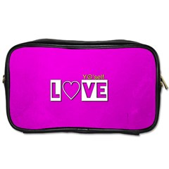 Love Yo self  Travel Toiletry Bag (two Sides) by OCDesignss