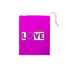 Love Yo self  Drawstring Pouch (small) by OCDesignss