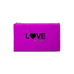 Love Yo self  Cosmetic Bag (small) by OCDesignss