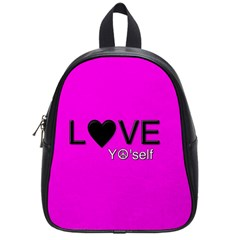 Love Yo self  School Bag (small) by OCDesignss