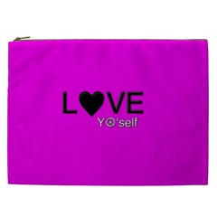 Love Yo self  Cosmetic Bag (xxl) by OCDesignss