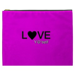 Love Yo self  Cosmetic Bag (xxxl) by OCDesignss