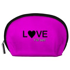 Love Yo self  Accessory Pouch (large) by OCDesignss