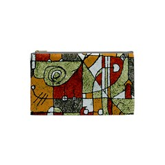 Multicolored Abstract Tribal Print Cosmetic Bag (small) by dflcprints
