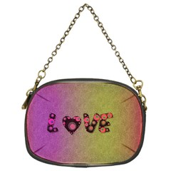 Love Abstract  Chain Purse (two Sided)