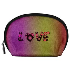 Love Abstract  Accessory Pouch (large) by OCDesignss
