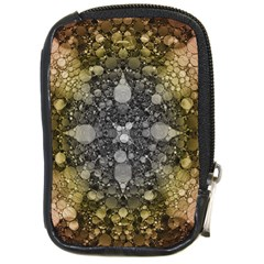 Abstract Earthtone  Compact Camera Leather Case by OCDesignss