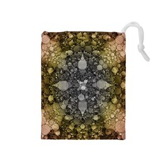 Abstract Earthtone  Drawstring Pouch (medium) by OCDesignss