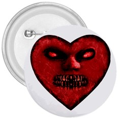 Evil Heart Shaped Dark Monster  3  Button by dflcprints