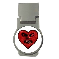 Evil Heart Shaped Dark Monster  Money Clip (round) by dflcprints