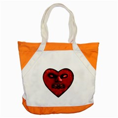 Evil Heart Shaped Dark Monster  Accent Tote Bag by dflcprints