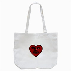 Evil Heart Shaped Dark Monster  Tote Bag (white) by dflcprints