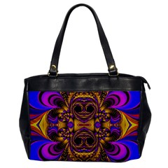 Crazy Abstract  Oversize Office Handbag (one Side) by OCDesignss