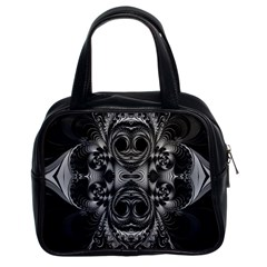 Blackened  Classic Handbag (two Sides) by OCDesignss