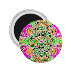 Florescent Abstract  2 25  Button Magnet