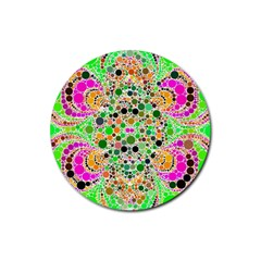 Florescent Abstract  Drink Coaster (round) by OCDesignss