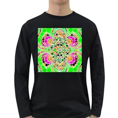 Florescent Abstract  Men s Long Sleeve T-shirt (dark Colored) by OCDesignss