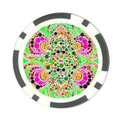 Florescent Abstract  Poker Chip (10 Pack) by OCDesignss