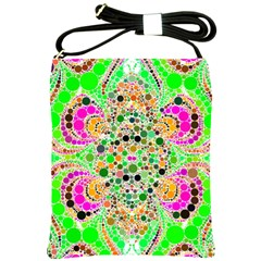 Florescent Abstract  Shoulder Sling Bag by OCDesignss