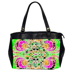 Florescent Abstract  Oversize Office Handbag (two Sides) by OCDesignss