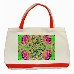 Florescent Abstract  Classic Tote Bag (red)